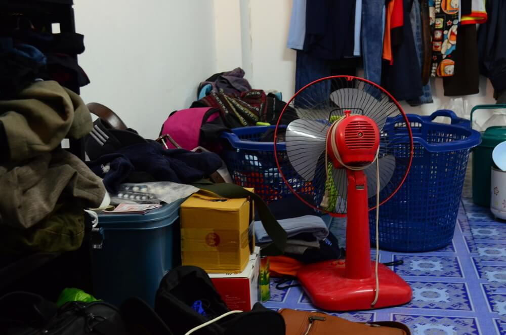 household clutter in need of cleanout services by Mikes hauling